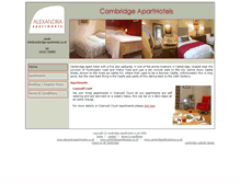 Tablet Preview of cambridge-aparthotels.co.uk